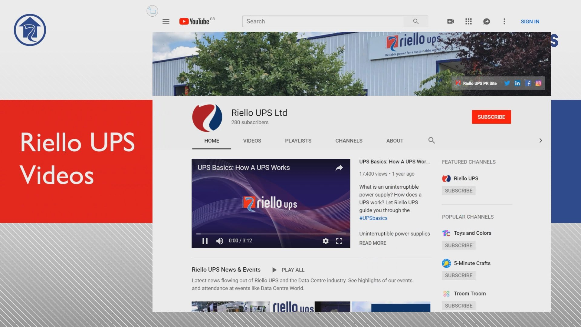 Riello UPS Interactive Experience