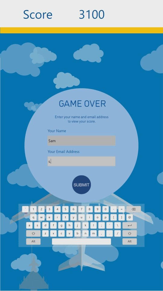 AirTanker Interactive Tap Game - Game Over Screen